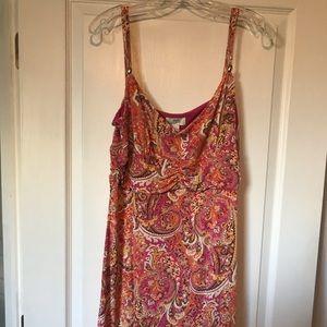 Loft knee or just above knee length dress size 14